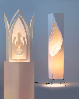 Leaf – Floor lamp with changable lampshade Bethlem Praga